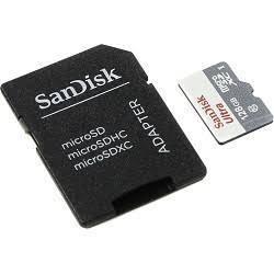Карта памяти Micro SDXC 128Gb Class 10 Sandisk + адаптер